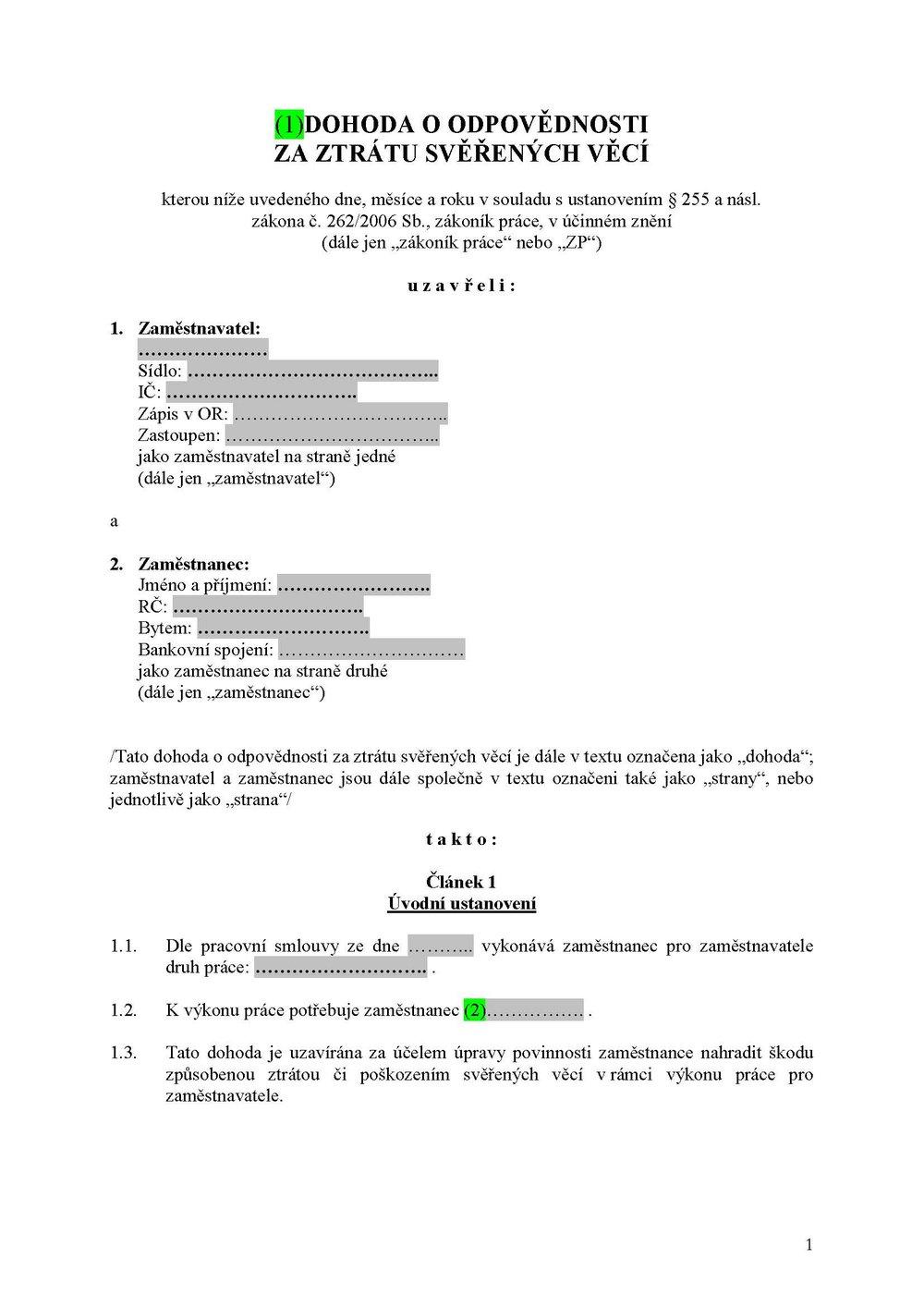 Dohoda_odpovědnost za svěřené věci_vzor _160901_Stránka_1